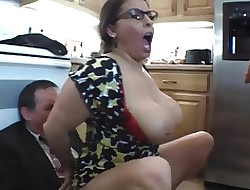 free kitchen big boobs videos